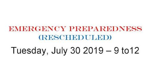 Emergency Prep Moapa Valley (Rescheduled)