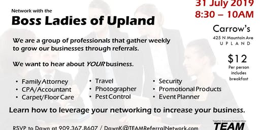 Boss Ladies of Upland Networking Event