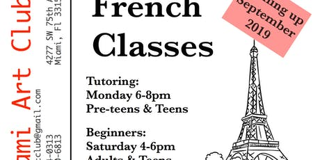 French Tutoring & Beginners Classes tickets
