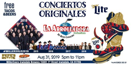 Conciertos Originales con La Arrolladora (Solo 21+) tickets