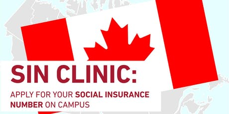 SIN Clinic: Apply for your Social Insurance Number on campus tickets