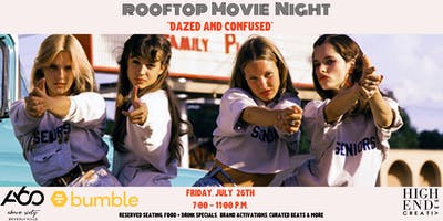 "Rooftop Movie Night, ""Dazed and Confused"" at Above SIXTY"