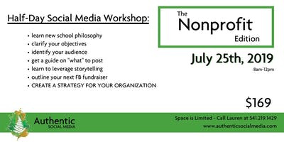 Nonprofit Social Media -  Half Day  Workshop