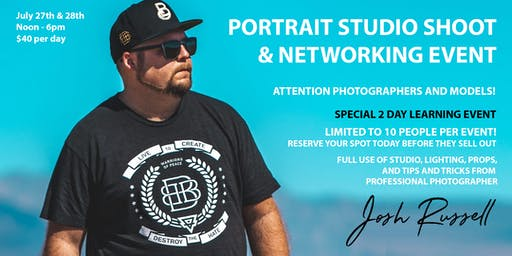 Portrait Studio Shoot and Networking Event