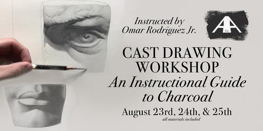 Cast Drawing an Instructional Guide to Charcoal - 3 Day Workshop w/ Certification