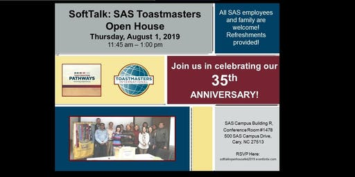 Softtalk Toastmasters Club 35th Anniversary & Open House