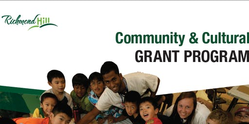 Richmond Hill Community and Cultural Grant Information Session 2019