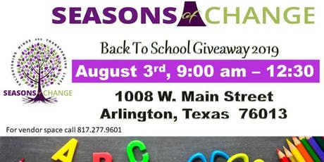 Seasons of Change 8th Annual Back 2 School Giveaway tickets
