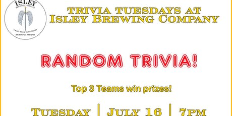 Random Trivia at Isley Brewing Company tickets
