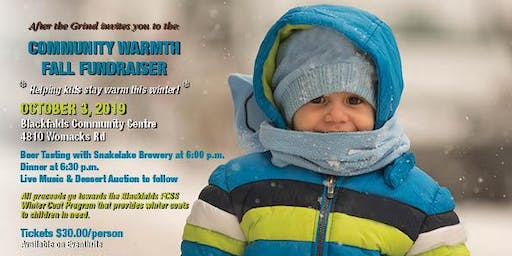 Community Warmth Fall Fundraiser for the Winter Coats for Kids program