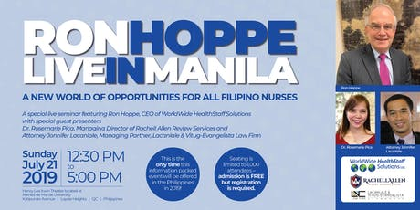 A New World of Opportunities for All Filipino Nurses tickets