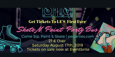 I.E's First Ever Skate N Paint Party Bus