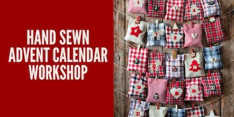 Hand Sewn Fabric Envelope Advent Calendar tickets