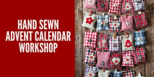 Hand Sewn Fabric Envelope Advent Calendar