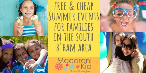 List of FREE and Cheap Kids and Family-Friendly Events