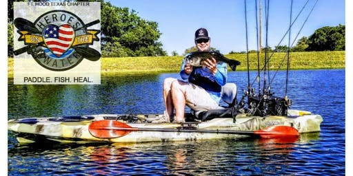 Heroes on the Water Fort Hood Chapter Kayak Fishing at the Ranch-July 20th 2019