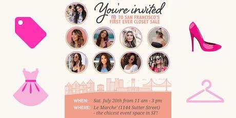 Blogger Closet Sale! tickets