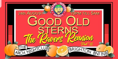Sterns Ravers Reunion-Good Old Sterns (part III) tickets