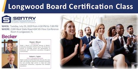 Board Member Certification Class tickets