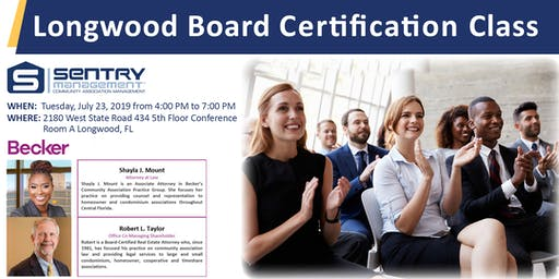 Board Member Certification Class