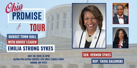 Representative Emilia Strong Sykes Ohio Promise Tour / Budget Town Hall Meeting July 30, 2019 tickets