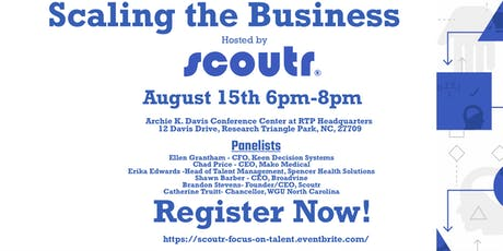 Scaling the Business: Focus on Talent, hosted by Scoutr tickets