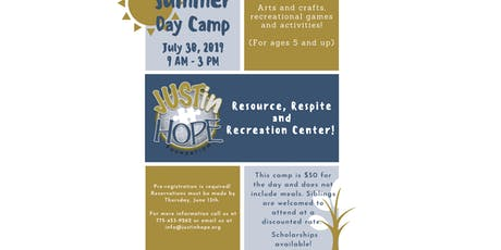 JUSTin Hope Summer Day Camp  tickets