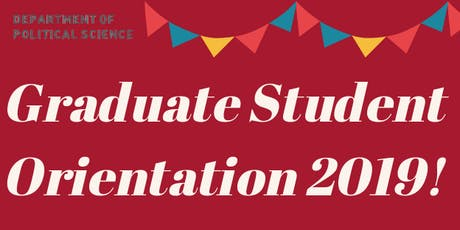 Political Science Graduate Student Orientation tickets