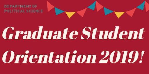 Political Science Graduate Student Orientation