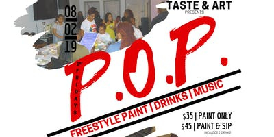1st Fridays Paint On Purpose (P.O.P.) Party