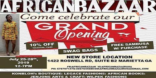 AFRICAN BAZAAR new store location! GRAND OPENING!!