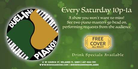 Dueling Pianos at Irish Shannon's in Downtown Orlando tickets