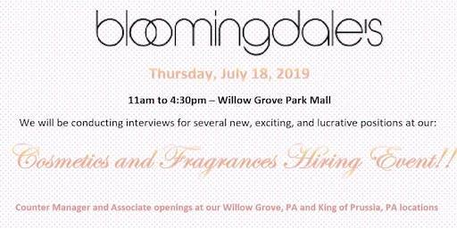 Bloomingdales Cosmetics and Fragrances Hiring Event