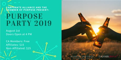 Purpose Party 2019 by Corporate Alliance SD & Chamber of Purpose tickets