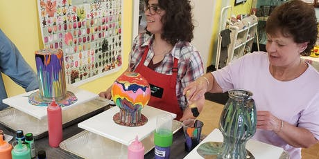 Vase and Canvas Paint Pour Wednesday Workshop tickets