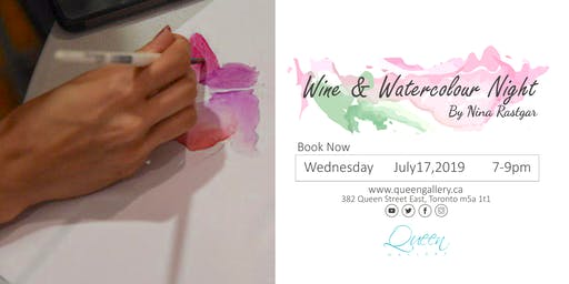 Wine and Watercolour Workshop