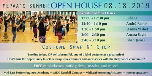 MEPAA Open House! Free Belly Dance Classes