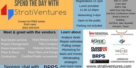 Spend The Day With StratiVentures: Houston Real Estate Implementation Team tickets