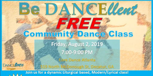 Be Dancellent Community Dance Class