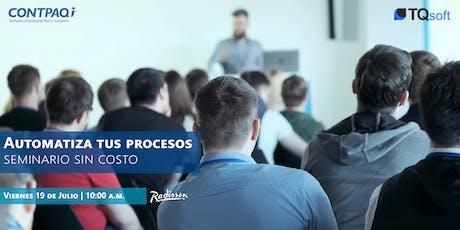 (Toluca, EdoMex.) Seminario Gratuito | Automatiza tus procesos entradas