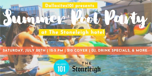 Summer Pool Party Series at the Stoneleigh
