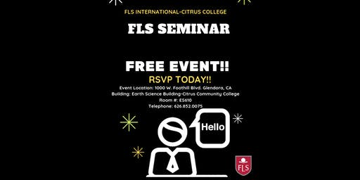 FLS INTERNATIONAL SEMINAR!