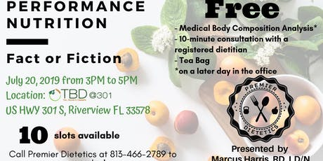 Performance Nutrition - Fact or Fiction tickets