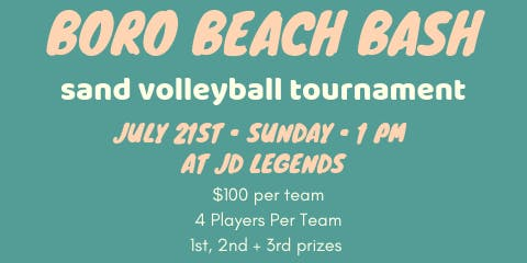 Boro Beach Bash Quad Sand Volleyball Tournament