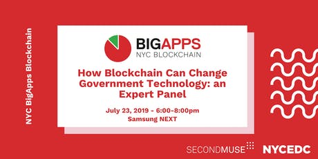 NYC BigApps Blockchain: How Blockchain Can Change Government Technology tickets