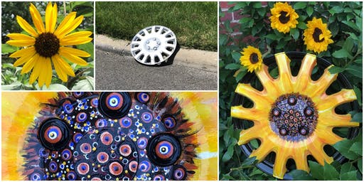 Recycling Workshop: Blooming Hubcaps