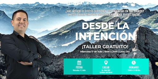 Taller Desde la Intención con Diego Sánchez