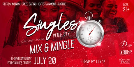 Singles in the City Mix and Mingle tickets