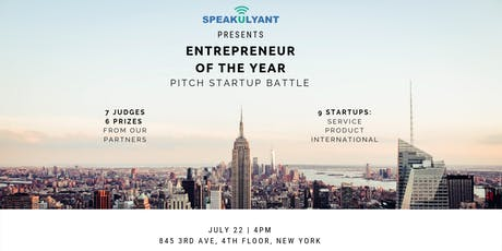 Entrepreneur of The Year 2019. Pitch StartUp Battle tickets