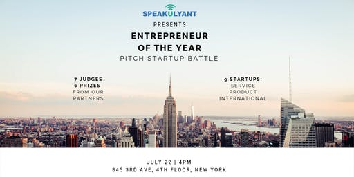 Entrepreneur of The Year 2019. Pitch StartUp Battle